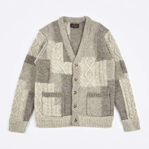 Intrsia Cardigan - Grey