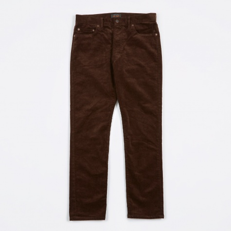 5 Pocket Tapered Cord Pant - Dark Brown