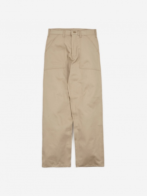 OG107 4 Pocket Fatigue Trousers 8.5oz - Khaki Twill