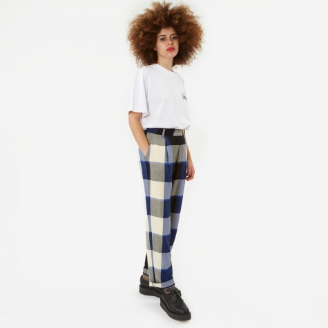 Rosa Trouser - Blue/Cream Check