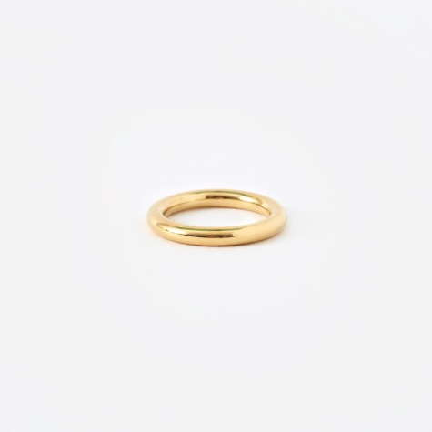FACET Round Ring - 18K Gold Plated