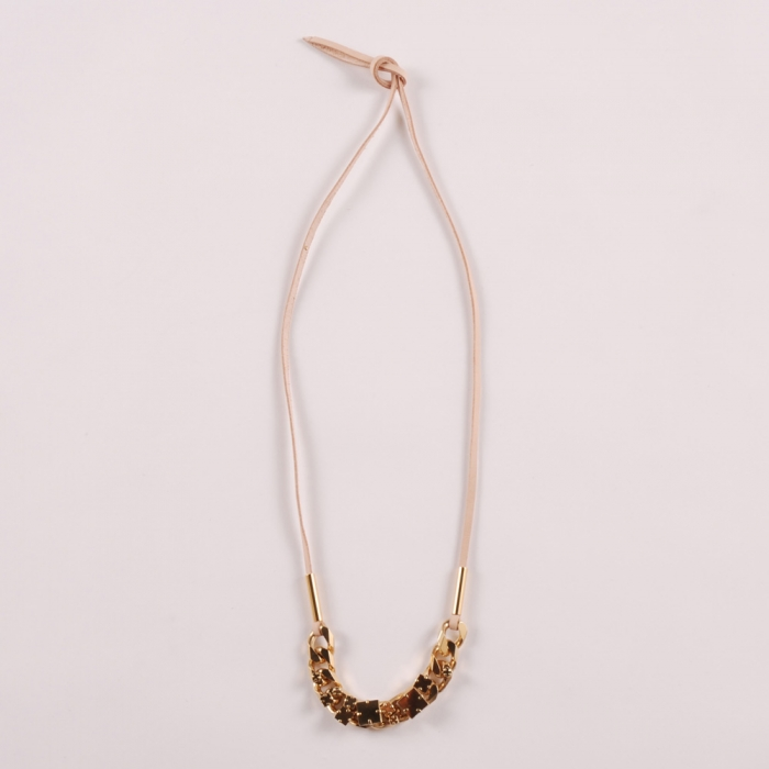 Sabrina Dehoff Curb Chain Necklace - Gold (Image 1)