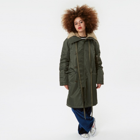 N3B Heavy Outer Lined Fake Fur - Khaki