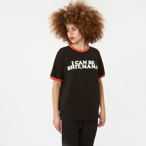 S/S Mama T-Shirt - Black/Red