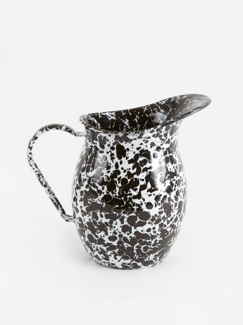 Small Pitcher - Black Marble