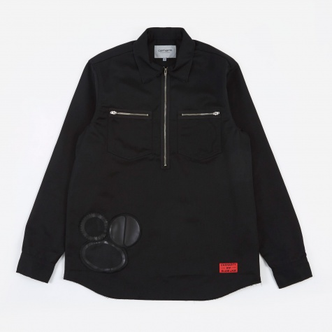 SJ Minute Man Zip Shirt - Black