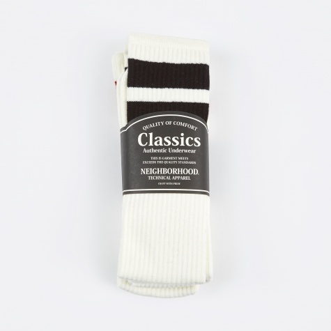 Classic 3 Pack Long Socks - White