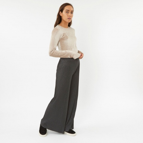Knit Long Trouser - Iron