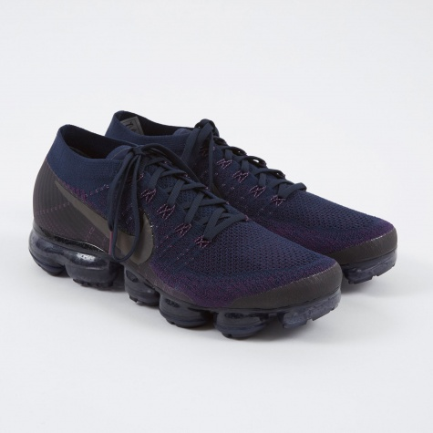 NikeLab Air Vapormax Flyknit Shoe - College Navy/Dark Grey-