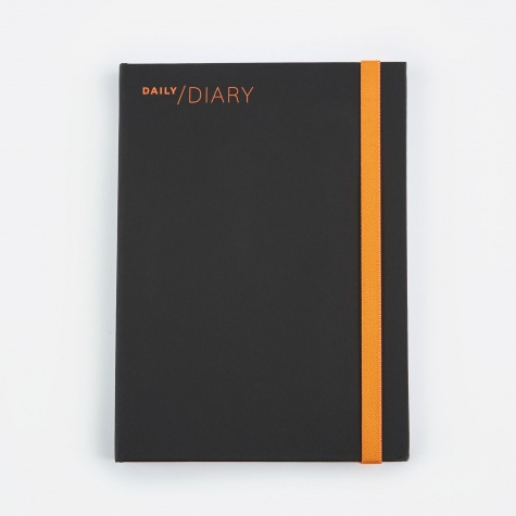 2018 Daily Diary & Planner - Black