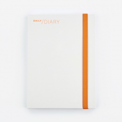 2018 Daily Diary & Planner - White