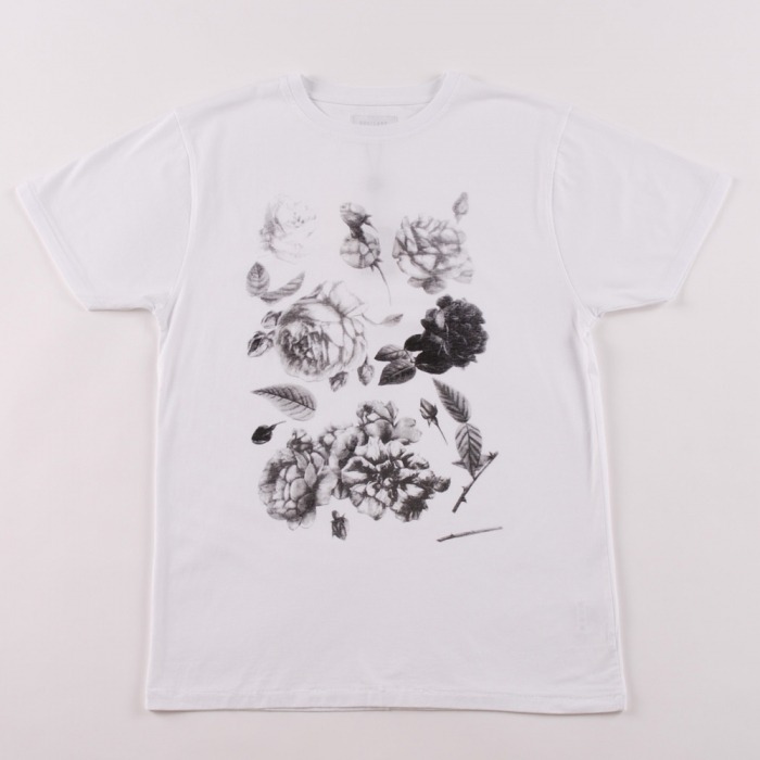 Soulland Roses T Shirt - White (Image 1)