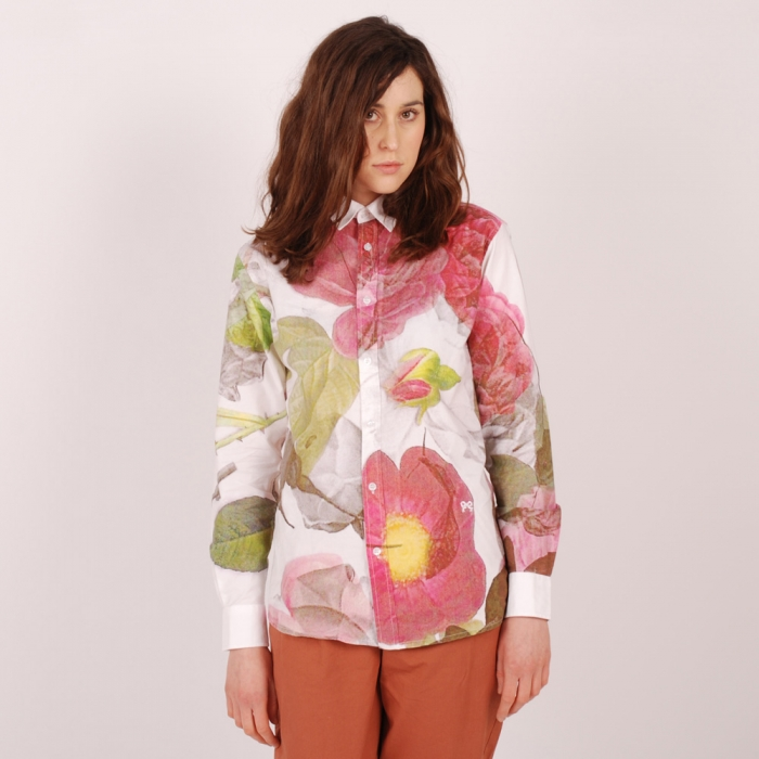 Soulland Rasmussen Rose Printed Shirt - Multi colour (Image 1)