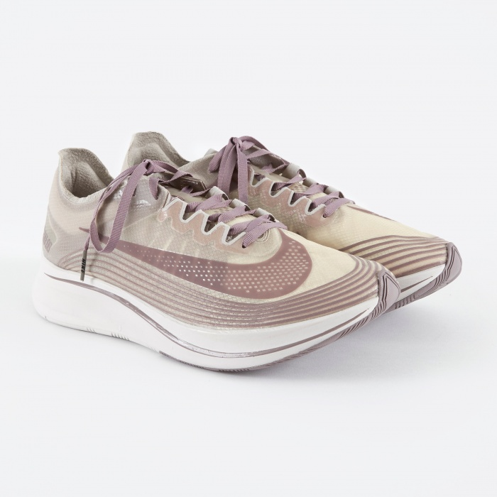 Nike NikeLab Zoom Fly SP Shoe - Taupe Grey/Taupe Grey-Obsidian (Image 1)