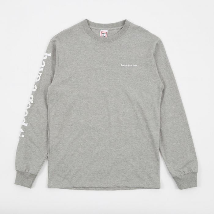 Have A Good Time Arm Side LS T-Shirt - Grey (Image 1)