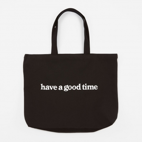 Side Logo Tote Bag - Black