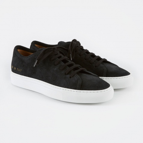 Tournament Low Waxed Suede - Black