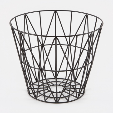 Wire Basket Black - Medium