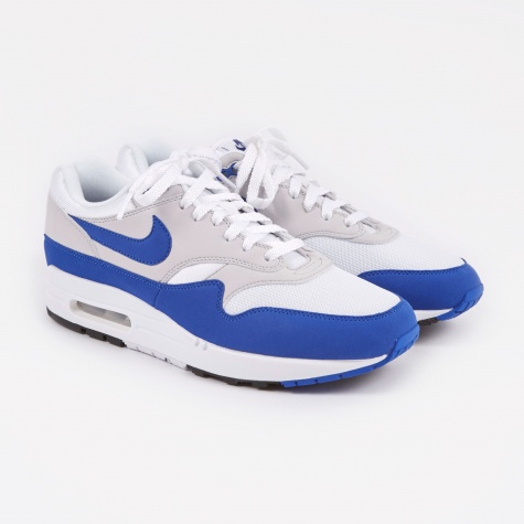 Air Max 1 Anniversary Shoe - White/Game Royal