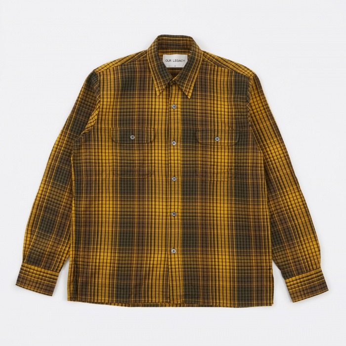 Our Legacy Country Shirt - Gold Check (Image 1)