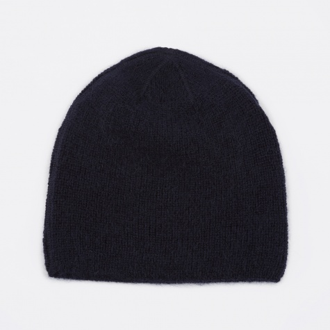 Knitted Hat - Navy Mohair