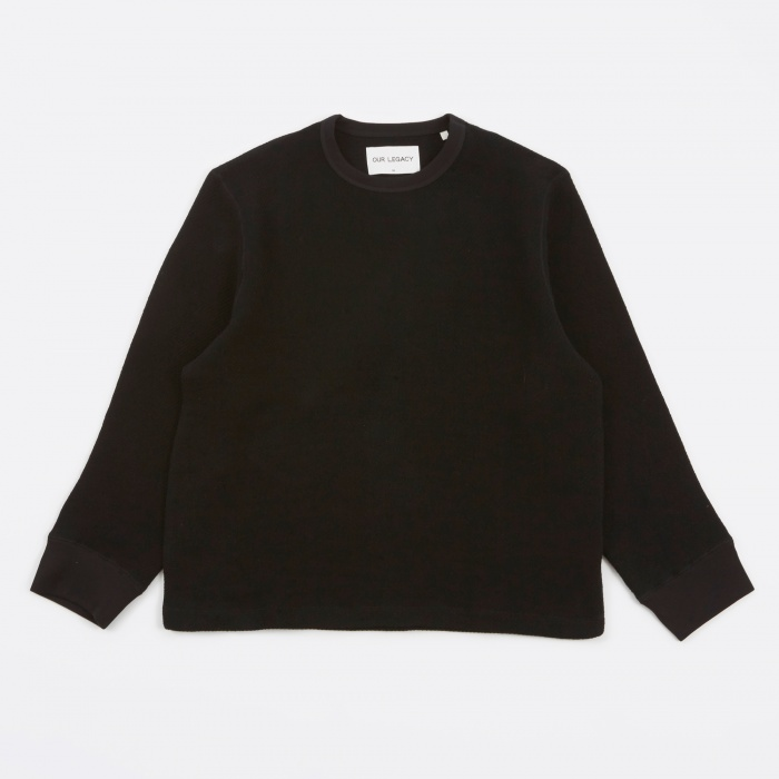 Our Legacy Open Longsleeve - Black Chunky Waffle (Image 1)