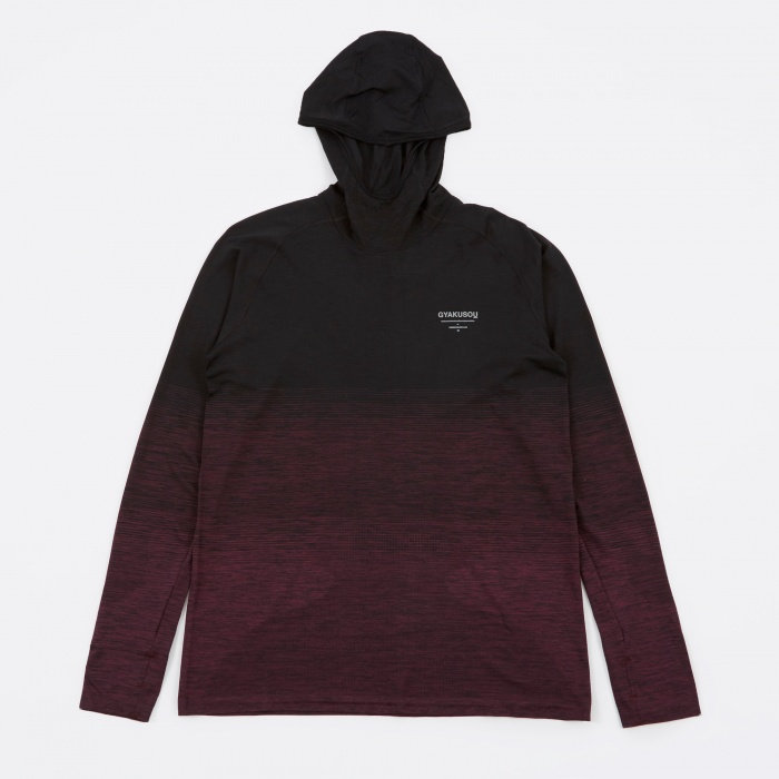Nike x Undercover Gyakusou DF Knit Top - Black/Dark Team Red (Image 1)