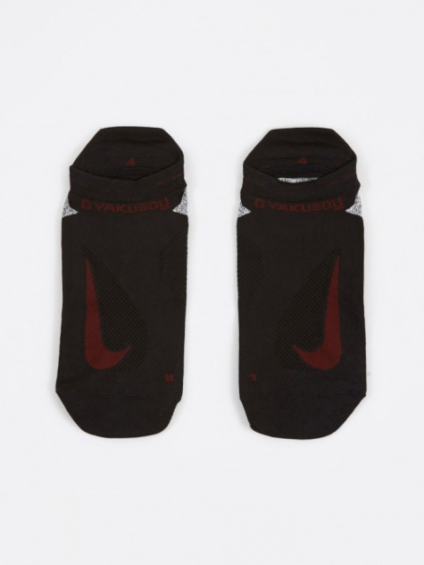 No-Show Running Socks - Black/Dark Te