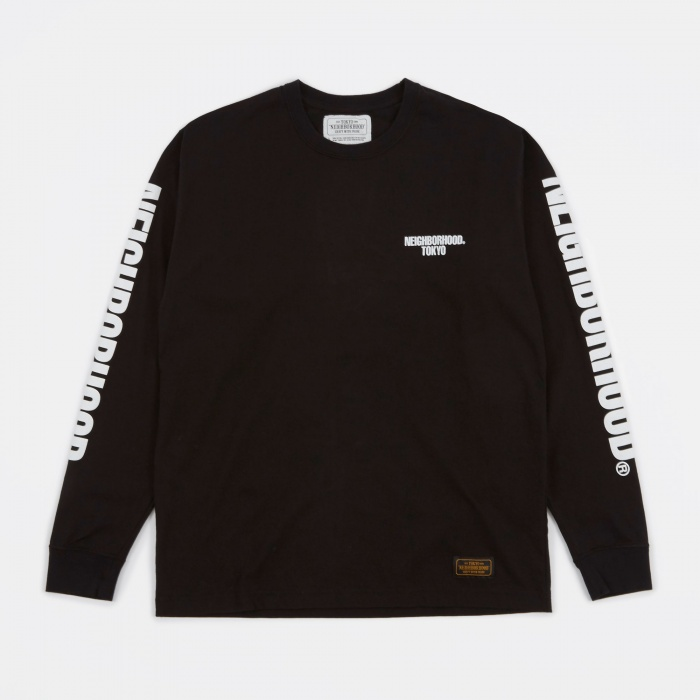 Neighborhood C.I. T-Shirt LS - Black (Image 1)