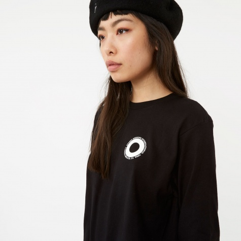 Ringer Long Sleeve Top - Black