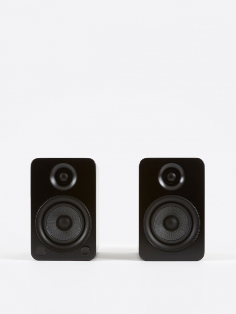 YU4 Powered Bookshelf Speakers - Matte Black