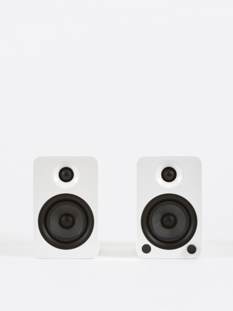 YU4 Powered Bookshelf Speakers - Matte White