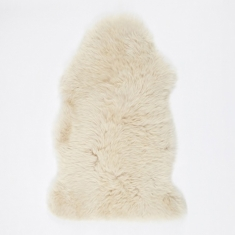 Natures Collection Long Wool Sheepskin Rug - Linen