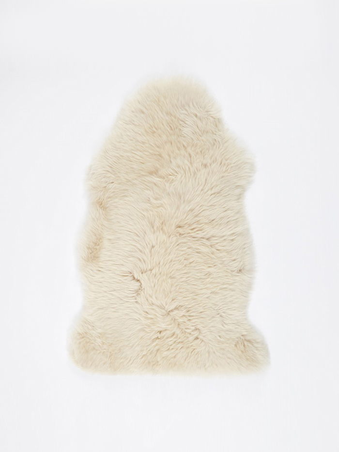 Natures Collection Long Wool Sheepskin Rug - Linen (Image 1)