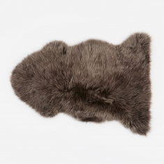 Natures Collection Long Wool Sheepskin Rug - Walnut