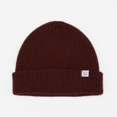 Norse Projects Norse Lambswool Beanie - Zircon Brown