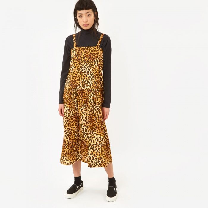 Neul x Goodhood Strap Dress - Leopard Print (Image 1)