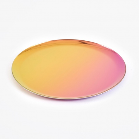 Round Serving Tray - Rainbow