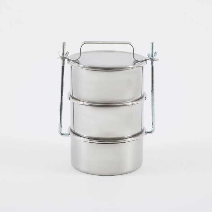 HAY Picnic Container Large - Stainless Steel (Image 1)