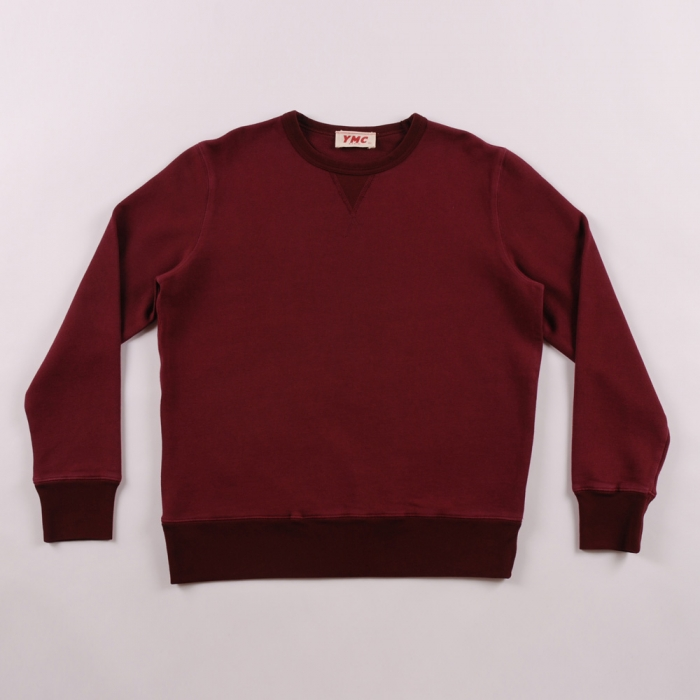 YMC Basic Crew Sweat - Burgundy (Image 1)