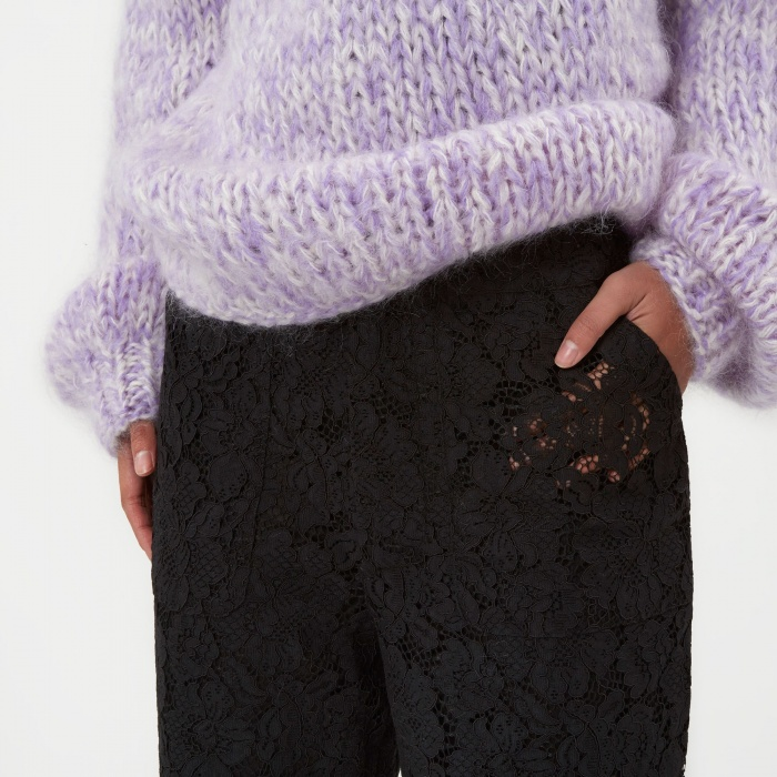 Ganni Jerome Lace Trouser - Black (Image 1)