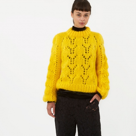 The Julliard Mohair Knit Jumper - Lemon