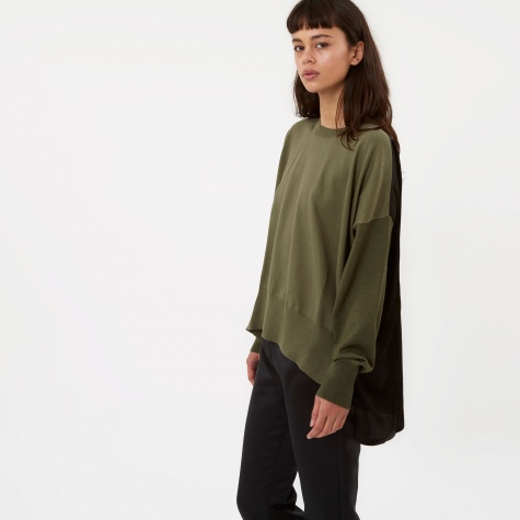 MM6 Knit With Silk Back - Khaki