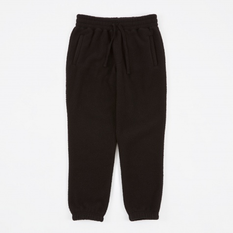 Deep Pile Fleece Camper Pant - Black