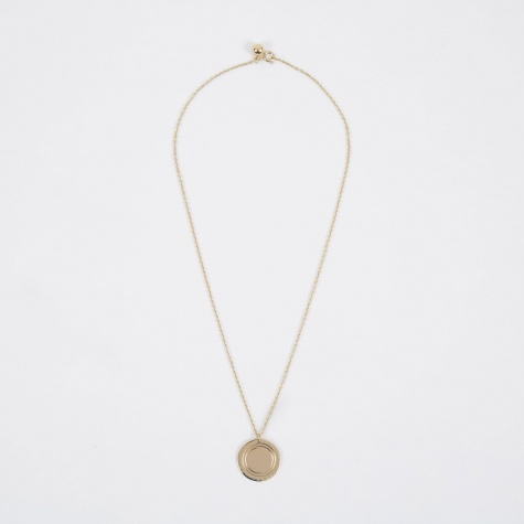 Logo Necklace - 14K Gold Plated