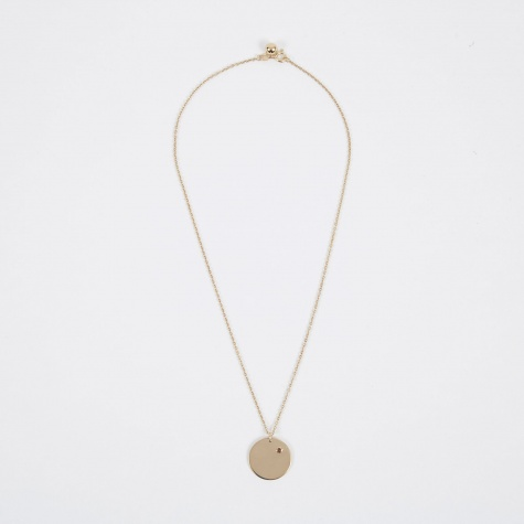 Jan Birthstone Necklace - 14K Gold Plated