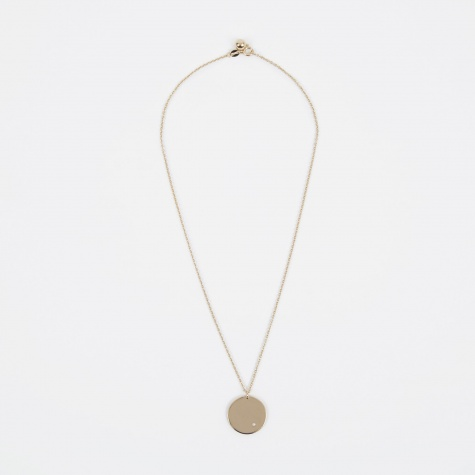 Apr Birthstone Necklace - 14K Gold Plated