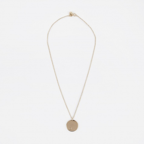 June Birthstone Necklace - 14K Gold Plated