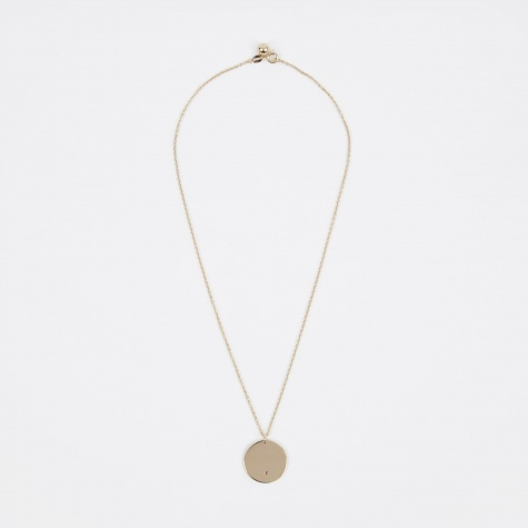 July Birthstone Necklace - 14K Gold Plated