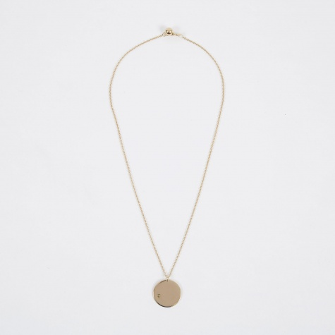August Birthstone Necklace - 14K Gold Plated